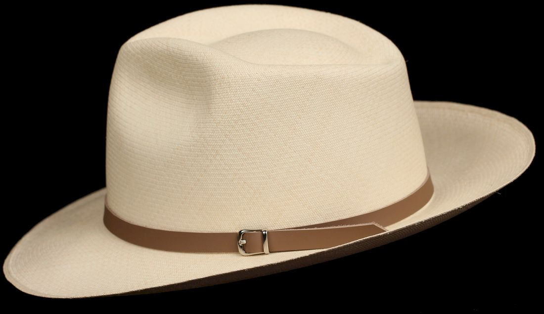 Tan half inch Leather hat band